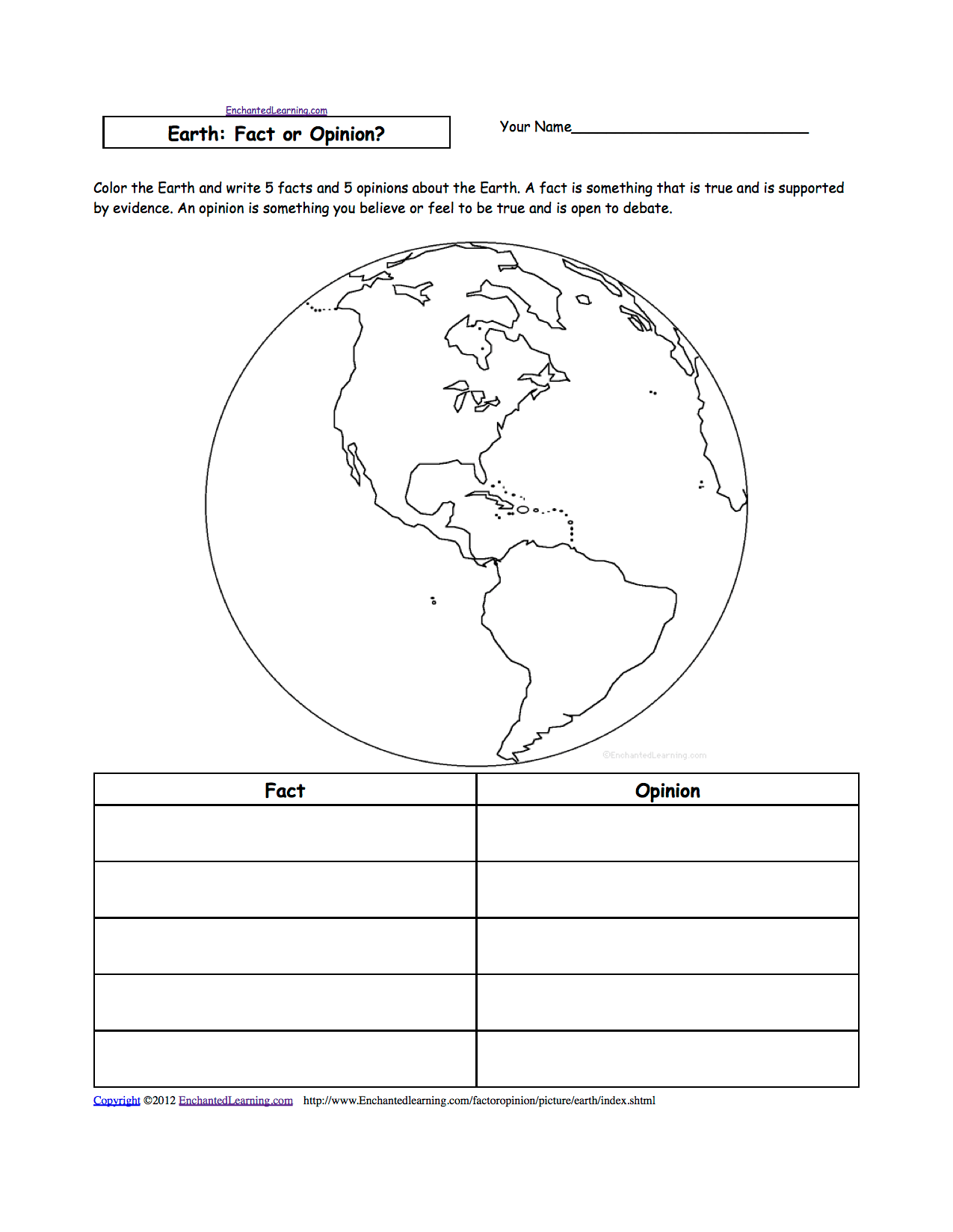 Structure Of The Earth Worksheets For Kids