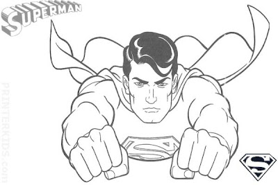Superman Flying Drawing