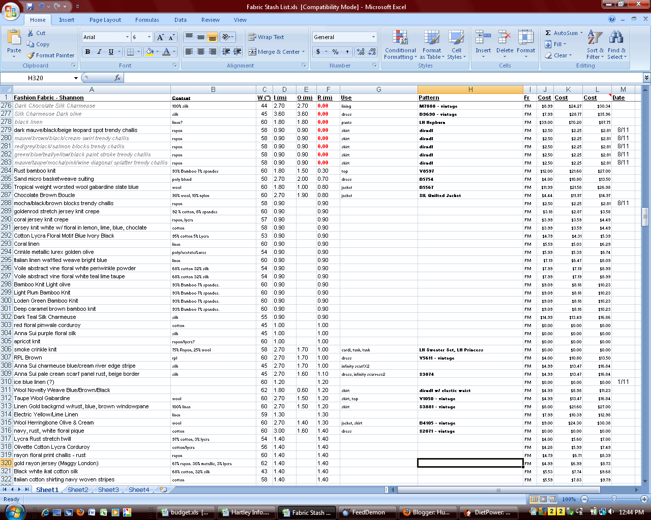 Workout Spreadsheet Excel