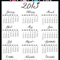 Yearly Calendar 2013 Printable Free