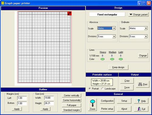 Graph Paper Printer Software
