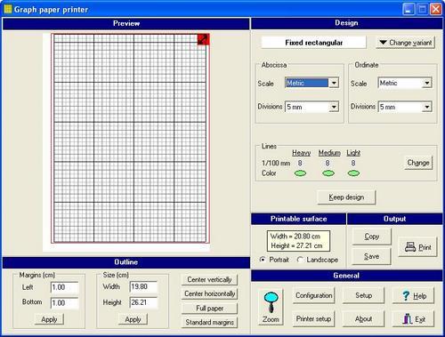 Graph Paper Printer Software