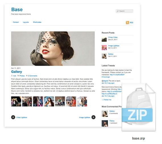 Vista previa de Base, plantilla para WordPress