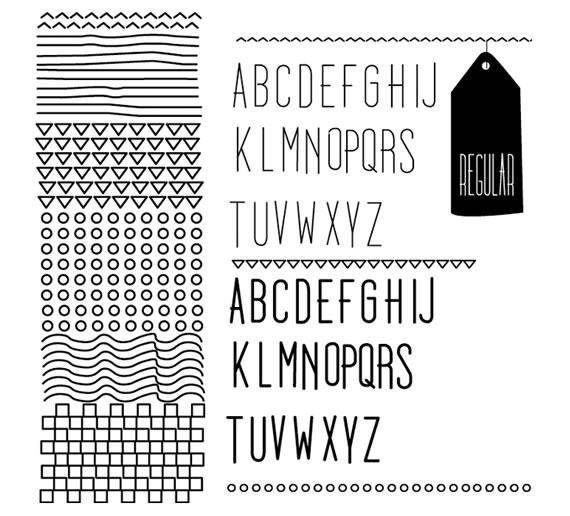 Vista previa de Dooodleista Font Family