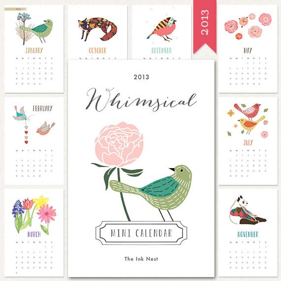 Whimsical Mini Calendar