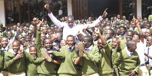 Alliance Boys Celebrating KCSE Results