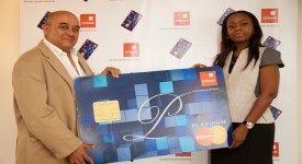 GTBank MD Ms. Ibukun Odegbaike (on the right) during the launch of the B...