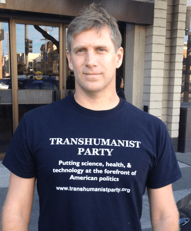 Zoltan Istvan Transhumanist party shirt