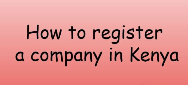 How to register a company in Kenya