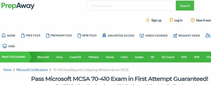 Microsoft 70-410 Exam and MCSA Windows Server 2012