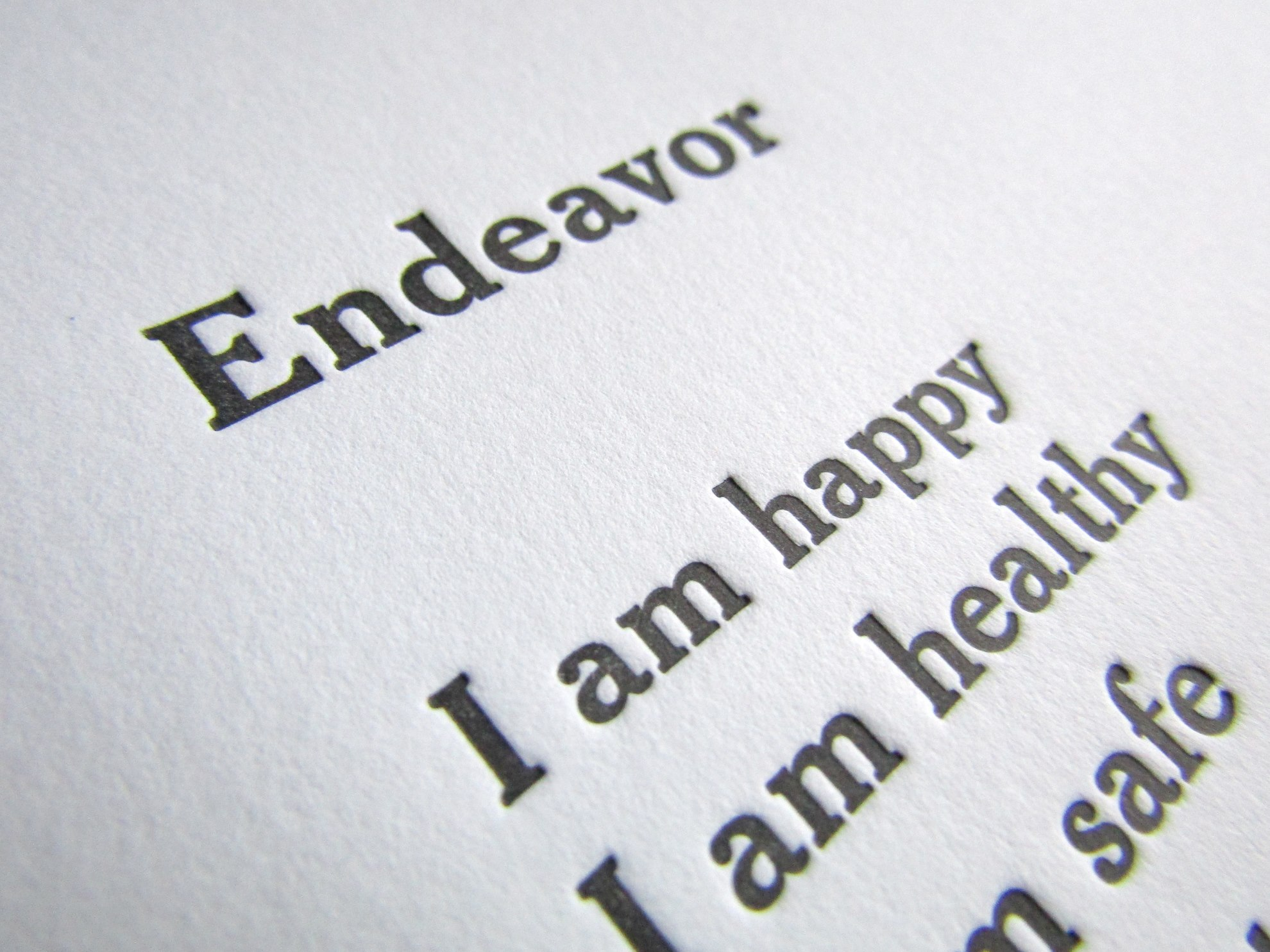 Endeavor Letterpress inviting letterpress boutique