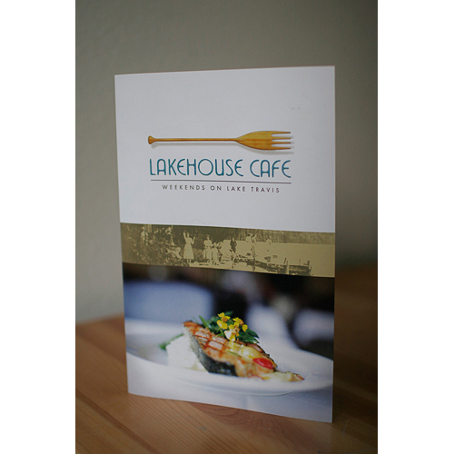 Lakehouse Cafe Brochure - Cover