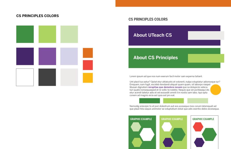 UTeach CS Principles Color Palette