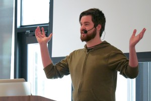 Dennis Snell presenting at LoopConf 2018
