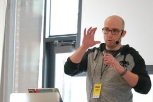 Pete Tasker presenting at LoopConf 2018