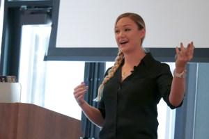 Maura Teal presenting at LoopConf 2018