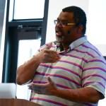 Toyin Akinmusuru presenting at LoopConf 2018