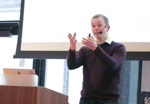 Richard Tape presenting at LoopConf 2018