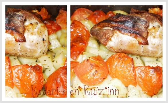 Recette filet mignon à l'Italienne avec des pommes de terre et tomates bio cuitent au four sur ©Kaderick en Kuizinn