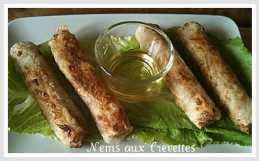 Nems - crevette - cuisine asiatique