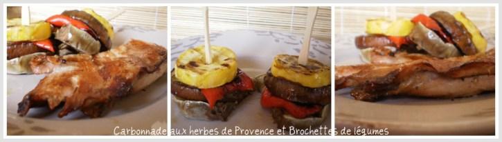 Recette carbonnade aux herbes de Provence et brochettes de légumes bio sur ©Kaderick en Kuizinn