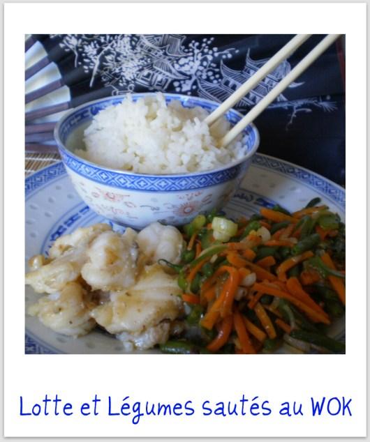 Lotte et julienne de légumes sautés au wok - recette asiatique