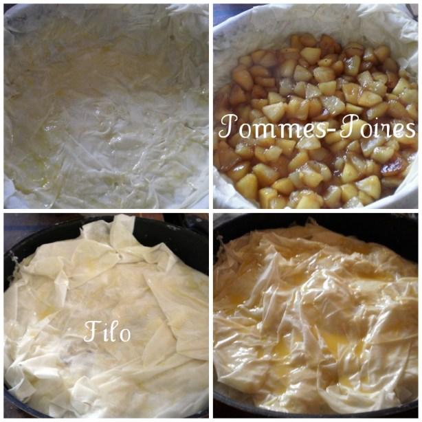 Recette bio d'un dessert Croustade Pommes-Poires