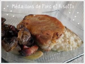 Recette des médaillons de porc au risotto et champignons