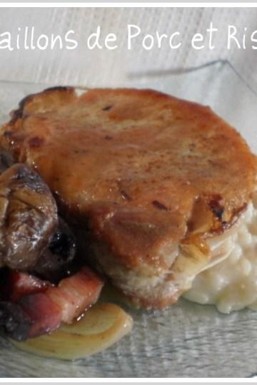 Recette des médaillons porc au risotto et champignons