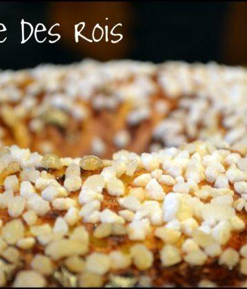 Recette Fêtes - Galette des Rois brioché avec des grains de sucre