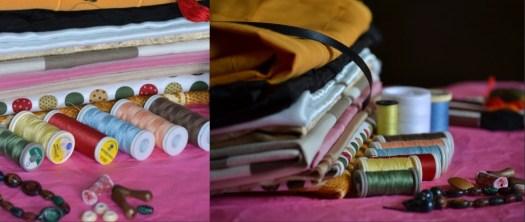 Photo de mes bobines de fils en couleurs pour le thème organisation