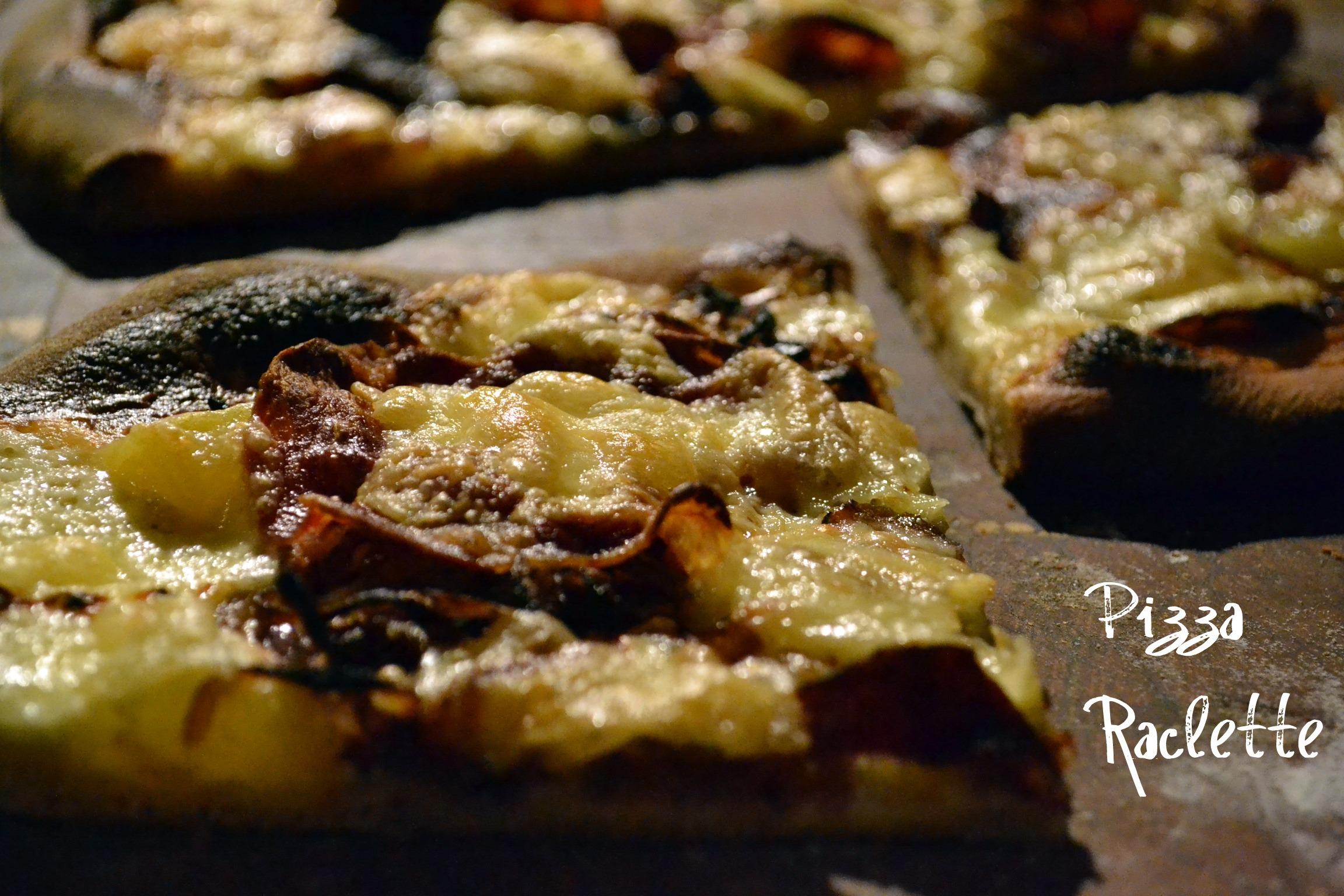 Pizza raclette recette de pizza au fromage chez kaderick - Raclette a la poele ...