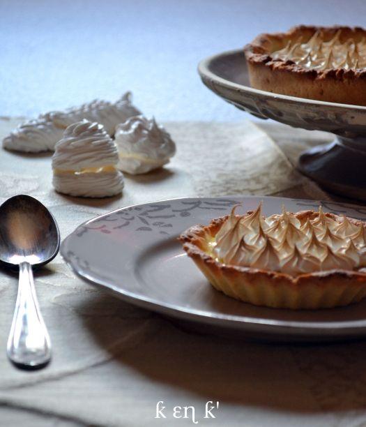 Recette dessert tarte citron meringuée avec un lemond curd et une meringue italienne