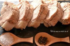 Recette du rôti de veau cuit en croûte de sel