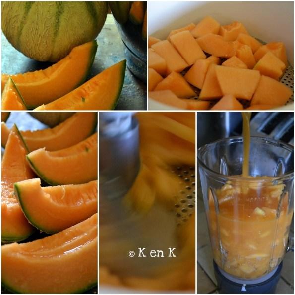 préparation sorbet melon