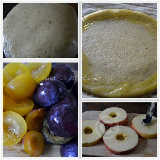 Tartelette façon sablé aux Prunes et Pommes sur le blog de cuisine avec des produits frais et bio de©Kaderick en Kuizinn
