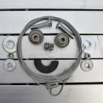 Projet 52-Photo d'un visage de robot fait avec des roulements, des vis et un aimant