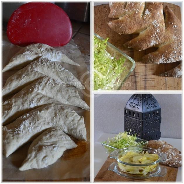 Cuisine saine, pain fait maison à la farine bio et gratin façon raclette