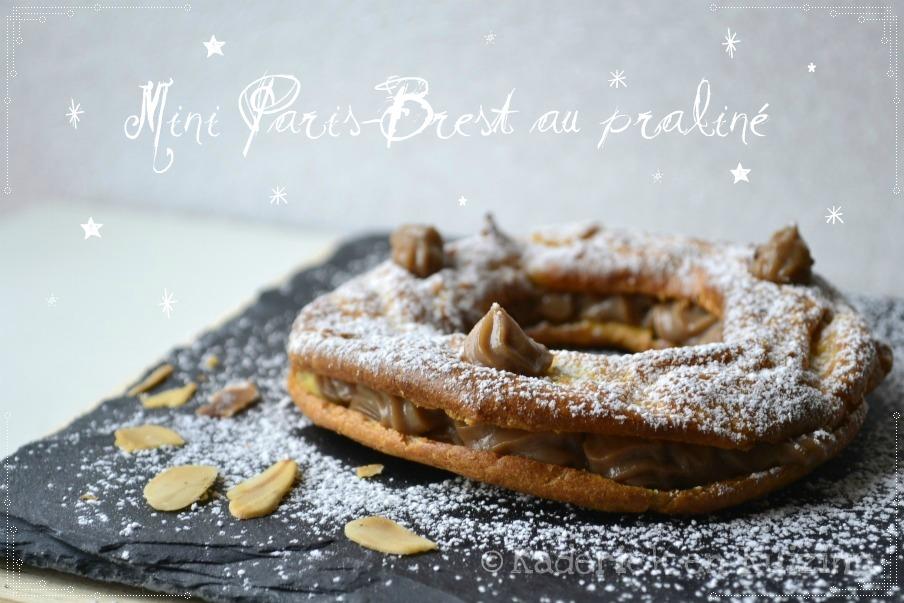 Dessert-Mini Paris-Brest au chocolat praliné