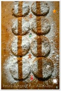 Recette des petits gâteaux aux amandes et zestes de citron saupoudrés de sucre glace