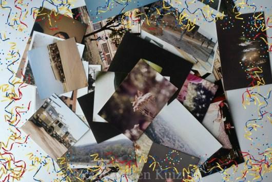 Photos du thème mémoire avec des confettis pour un esprit de fête pour le Projet 52