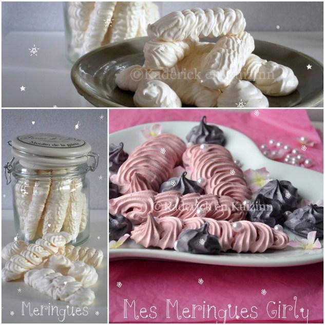 Présentation des Meringues dans une assiette coeur, un bocal pour une belle décoration