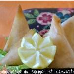 Recette express de samoussas au saumon et crevettes