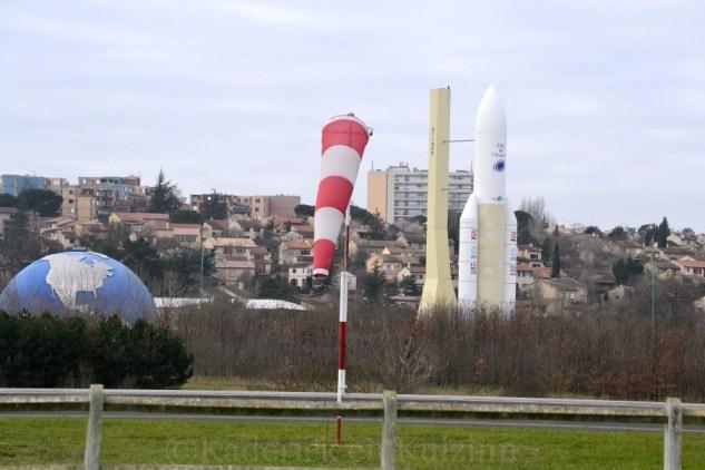 Photo de la Fusée Ariane de la cité de l'espace pour le thème direction du blog vivre la photo