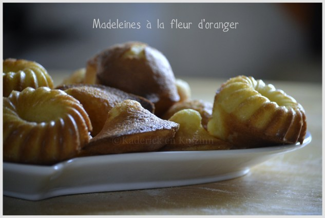 Recette des Madeleines à la fleur d'oranger pour un dessert ou un goûter