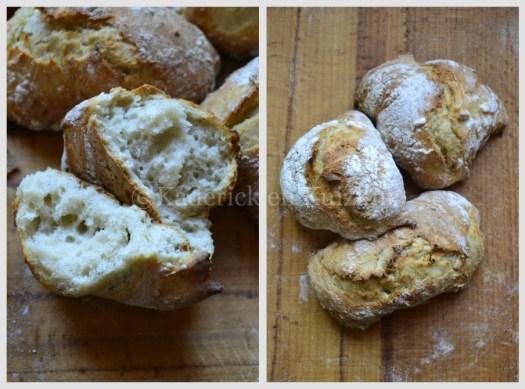 Recette petits pains avec une mie aérée du pain sans pétrissage