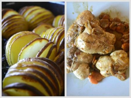 Recette des pommes de terre à la suédoise et paupiettes dinde en sauce