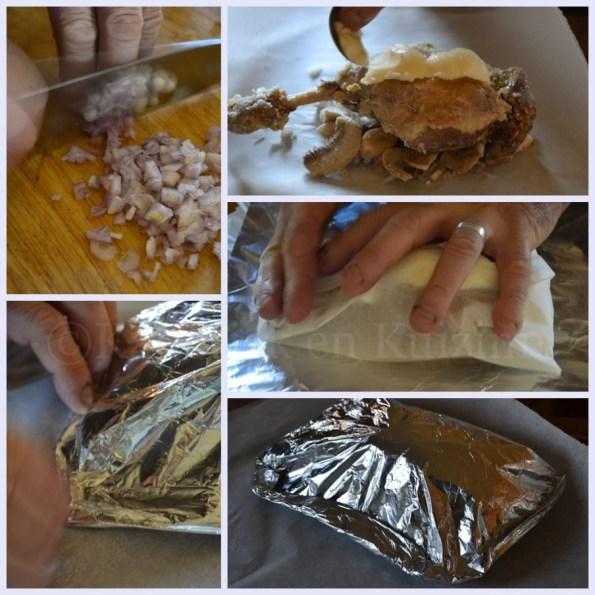 Recette-Préparation de la papillote de cuisse de canard confite à la graisse de canard pour Culino Versions