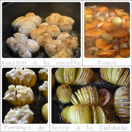 Recette-Cuisson des paupiettes dinde et pommes de terre à la Suédoise