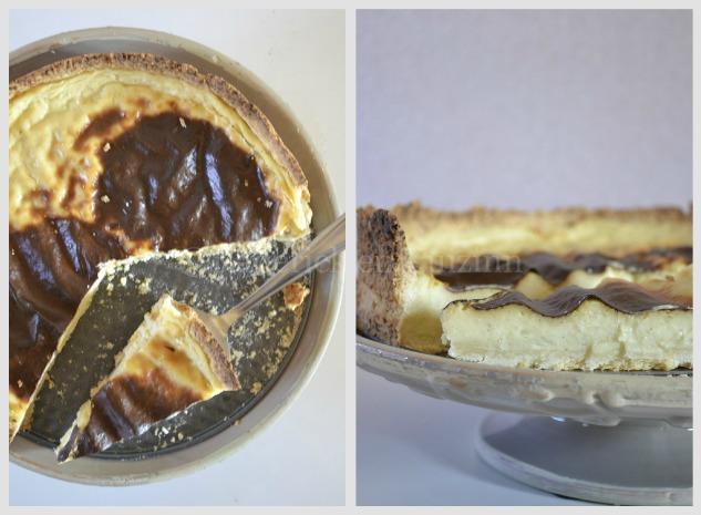 Recette traditionnelle du flan pâtissier vanillé vu de dessus et de côté